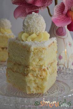 Vanilla Cake, Food, Raffaello, Essen, Meals, Yemek, Eten