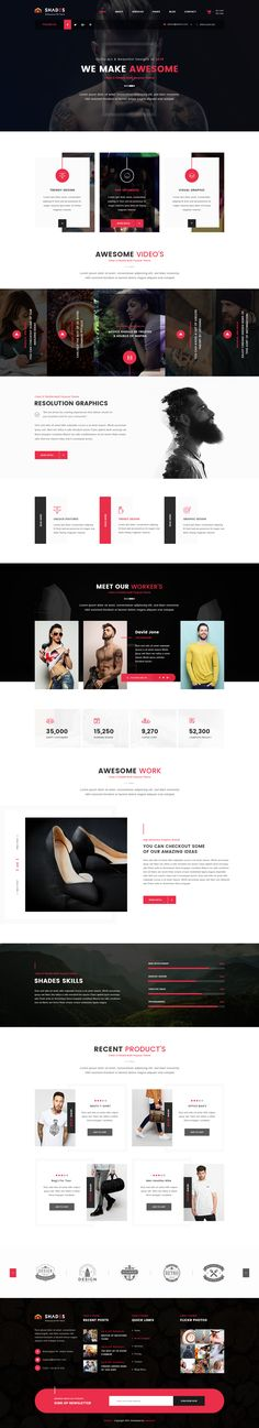 Shades is a clean, creative and modern PSD template | Download: https://themeforest.net/item/shades-creative-multipurpose-psd-template/16596243?ref=sinzo