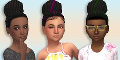 The Sims 4   simsimmajay: Garnet Sim's Cookie Hairstyle for female child   new mesh natural hairs