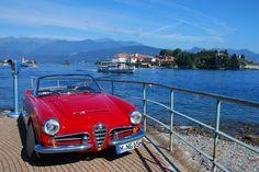 Nostalgic Classic Car Travel | Alfa Romeo Giulia at Lake Maggiore