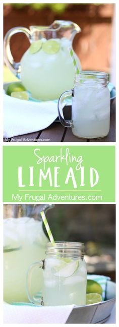 Simple sparkling limeaid recipe. This is such a refreshing drink for summer and perfect for entertaining!