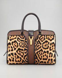 153b5f3a4f Yves Saint Laurent Leopard-Print ChYc E W Bag - Neiman Marcus. Designer  High Fashion HandBags