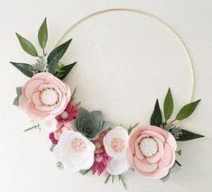 Rifle Paper Co Inspired Wreath Felt Wreath от alisonmichel
