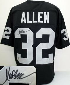Marcus Allen Signed Pro Style Custom Jersey PSA DNA  amp  SI + Allen Holo e0adf96d8