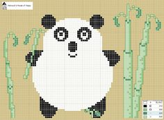 Hancock's House of Happy Free cross stitch chart:  Panda-monium!