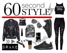 """""""My point of view: 60 second style - Drake"""" by mypointofstyle ❤ liked on Polyvore featuring Bobbi Brown Cosmetics, NIKE, Casetify, Gucci, NARS Cosmetics, Smashbox, Valentino, Dolce&Gabbana, DRAKE and views"""