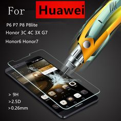 Tempered Glass Film For Huawei, Honor, Ascend+ Cleaning Kit  Price: 6.61 & FREE Shipping  #phone