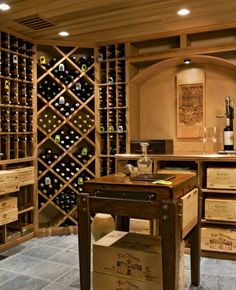 I definitely want a wine cellar like this in our next house!!!