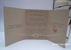 In The Cat Cave: Tie The Knot Wedding invites