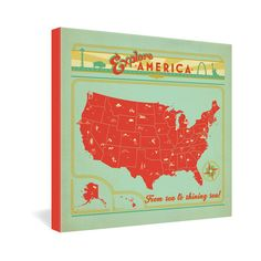 Anderson Design Group Explore America Gallery Wrapped Canvas