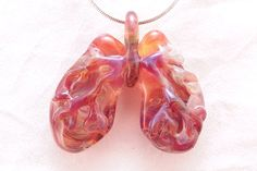 Breathe Easy Anatomical Lung Necklace wearable by DeenieWallaceArt