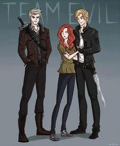 Ummm technically Clary is team good and Jace doesn't have a choice because of mr blondey idiot I'm the last Morgenstern (sorry if spelled wrong) face over here who's all like KILL MAX FOR NO REASON AT ALL