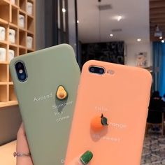 Cute Colorful Matte Cute Avocado Quotes iPhone Case Pink Green Orange PurpleYou can find Iphone cases and mo. 3d Iphone Cases, Girly Phone Cases, Iphone Cases Quotes, Diy Phone Case, Iphone Case Covers, I Phone 6, Awesome Phone Cases, Cellphone Case, Unique Iphone Cases