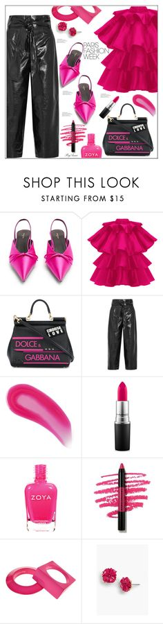 """Paris fashion week !"" by anne-977 ❤ liked on Polyvore featuring Balenciaga, Dolce&Gabbana, Valentino, Christian Louboutin, MAC Cosmetics, Marc Jacobs, Maison Margiela, Talbots, parisfashionweek and Packandgo"