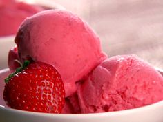 Strawberry Frozen Yogurt Recipe : Patrick and Gina Neely : Food Network - FoodNetwork.com