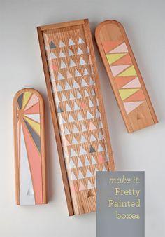 DIY Painted Boxes via Design Mom
