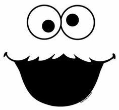 cookie monster face template - Cookie Monster Head Coloring Page