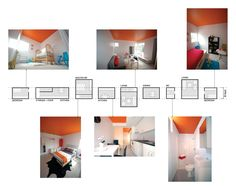 Graphic sequence is evident in this interior design imagery. Not only does it present images but as well as its plans along side it.  This allows the designer to easily communicate the idea to the intended audience or potential clients. By allowing the viewers to grasp the intention of atmosphere wanting to be portrayed.