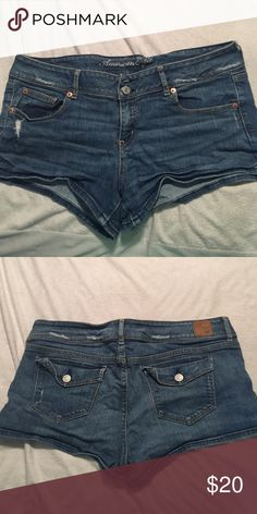 American Eagle Jean Shorts In great condition American Eagle Jena Shorts American Eagle Outfitters Shorts Jean Shorts