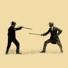 Self defence with a walking stick (1901)
