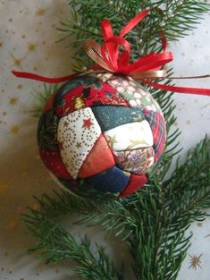 ~ Patchwork Ornament ~ I've made these for over 30 years.  Their among my favorites to make LKTL....