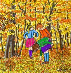 Blätterrascheln im Herbst