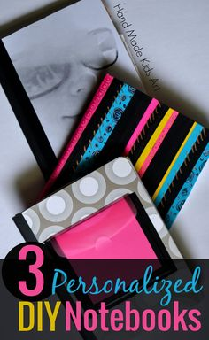DIY your notebooks for a special touch to writing time!