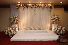Wedding Ceremony Flowers Altar Simple 63 Ideas For 2019 Desi Wedding Decor, Wedding Hall Decorations, Wedding Reception Backdrop, Engagement Decorations, Wedding Ceremony Flowers, Rustic Wedding Flowers, Backdrop Decorations, Arch Wedding, Wedding Church