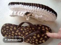 cucire suola in scarpette a uncinetto tutorial