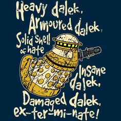 Special Weapons Dalek T-Shirt $12 Doctor Who tee at Blue Box Tees!