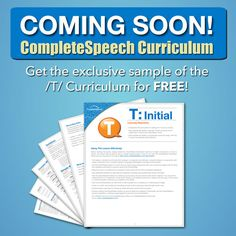 Isn't this EXCITING! CompleteSpeech is releasing curriculum soon! Get a sample with /t/ today on their website www.completespeech.com