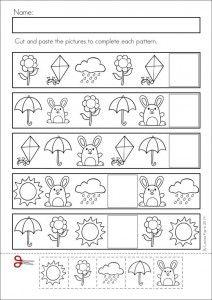 Pattern worksheet for kids | Crafts and Worksheets for Preschool,Toddler and Kindergarten