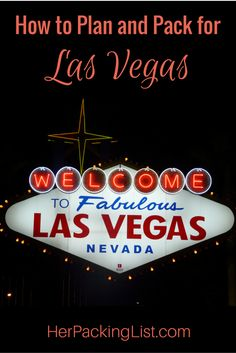 Las Vegas travel and packing guide