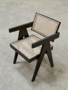 Office Chair (V leg) - Black Finish