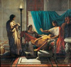 Mes Images: Virgile lisant l'Enéide à Livia - Jean Dominique Ingres. Français. 1780-1867. huile sur toile.