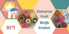 Maak deze vrolijke zomerse DIY van strijkkralen. Een praktische manier om je glas te beschermen en het vrolijkt er ook nog eens van op met al dat fruit! Fun, Lemonade, Fin Fun, Lol, Funny, Hilarious