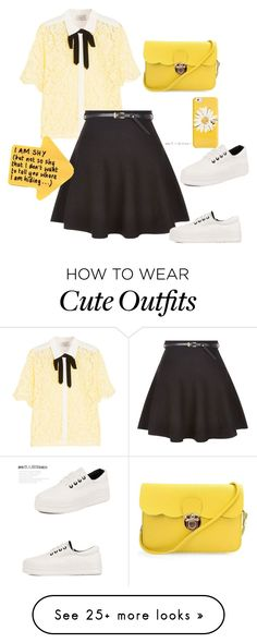"""""""Cute Yellow"""" by lina-chan-i on Polyvore featuring Sandro, New Look, Pangmama and Kate Spade"""