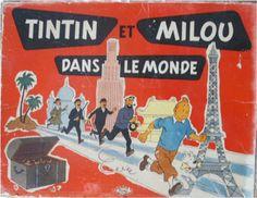 Jeu de société - Plateau - Tintin et Milou dans le monde- Editeur inconnu