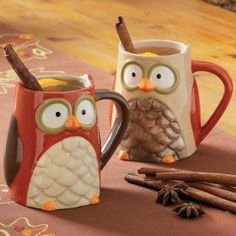 I have been loving owl stuff lately and these are adorable.