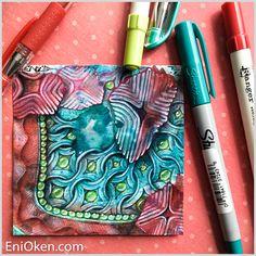 MI2 over distress inks — The Creative World of Eni Oken