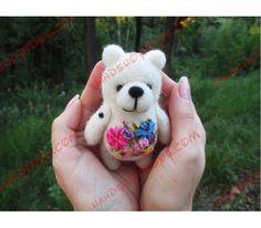 Медведь сухое валяние (из шерсти) Айс. от магазина ИгРуРа
