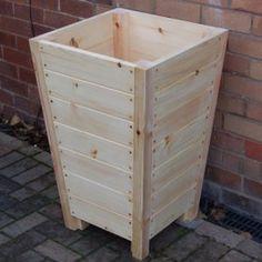 The Bladon wooden garden planter is crafted in pine in our UK workshops Tall Outdoor Planters, Wooden Garden Planters, Raised Planter Beds, Backyard Garden Design, Wood Pallets, Garden Furniture, Pine, Mailbox, Dark Brown