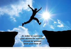Success image with awesome quote