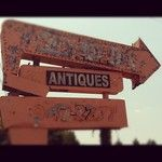 """Antiques"" Vintage Sign, Clinton TN"