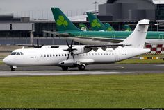 Stobart Air ATR 72-600 (72-212A) EI-FSK airport, skating at Ireland Republic Dublin International Airport. 14/08/2016.