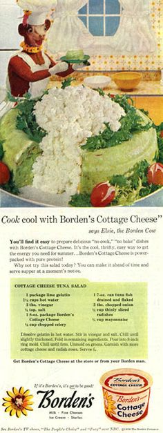 I was going to say too much cottage cheese, then I noticed lime jello is mixed with tuna.