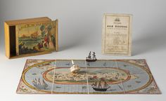National Museum of Australia - Race to the Gold Diggings game First Fleet, Game Boards, Painted Metal, Old Games, Vintage Games, Tall Ships, Hobby, Wood Toys, National Museum