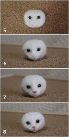 ■ 長毛猫さんのたてがみ の画像 Hinaliの羊毛ねこ制作日記