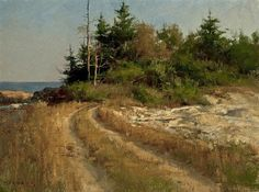 Weathered Way by Don Demers Isn't this a fabulous painting? I love the warm palette... it's that nice golden light warmth that I find so appealing in paintings. The dirt path with it's subtle shado...: