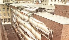 Lebbeus Woods | Radical Reconstruction IV but you don't respond to those transformations by designing, say, new prefab refugee shelters or more durable tents. You respond with what I'll call science fiction: a completely new order of things – a new way of organizing and thinking about space. You posit something radically different than what was there before.